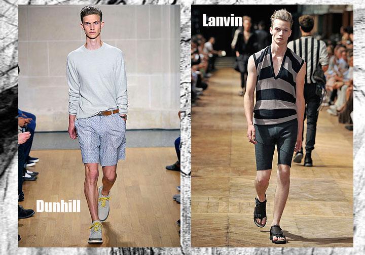 Pantaloni scurti pentru barbati 2011 – modele aduse direct de pe runway