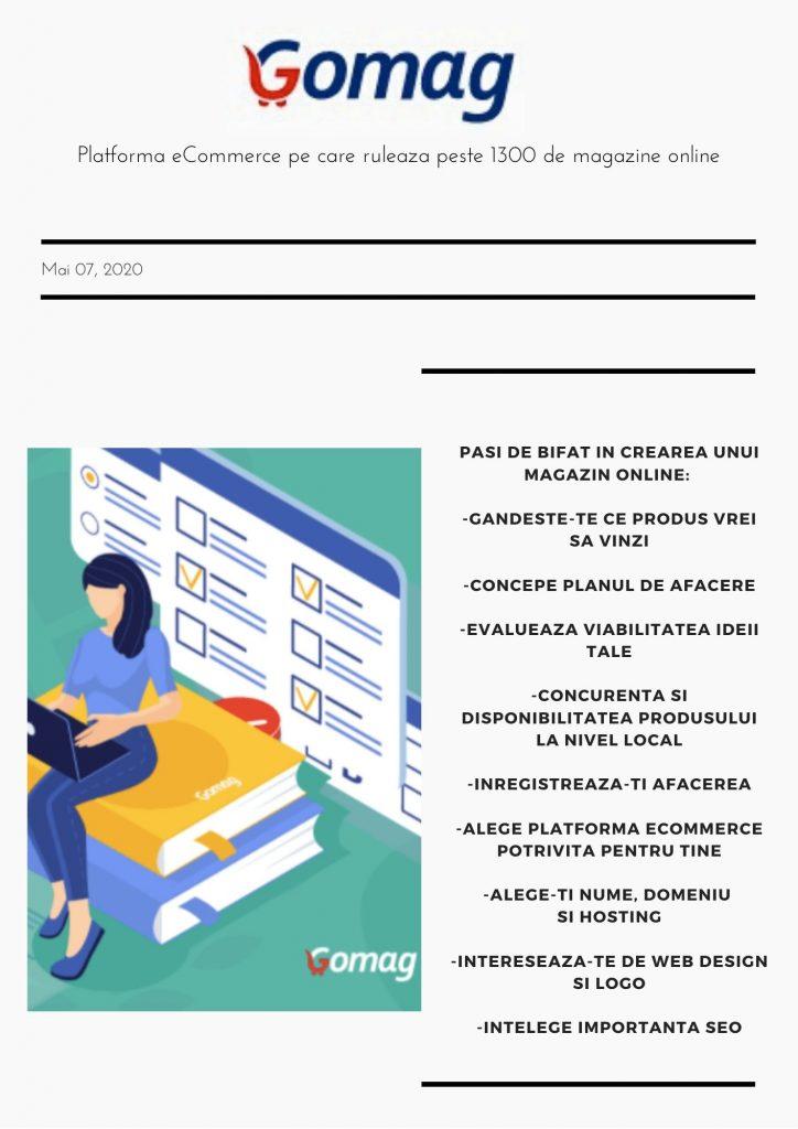 grafic pentru platforma magazin online