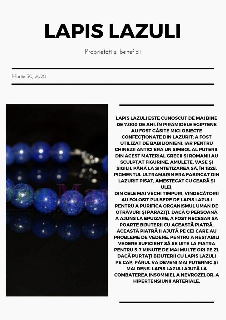 lapis lazuli, cristal pentru chakra