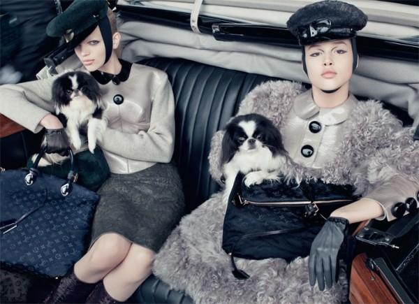 Louis Vuitton, campania de toamna-iarna. Shooting cu modele adolescente