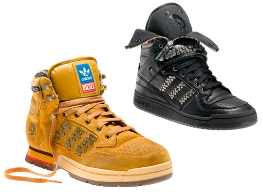 Bascheti de iarna pentru barbati cu semnatura Adidas Original&Diesel