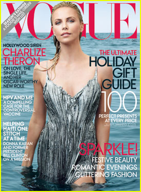 Charlize Theron troneaza pe coperta Vogue editia decembrie 2011