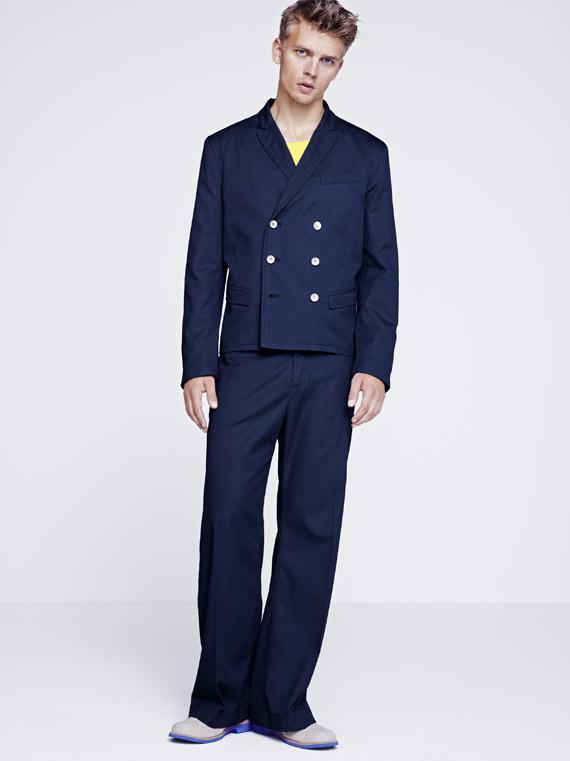 Catalog H&M 2012 barbati –  o primavara navy