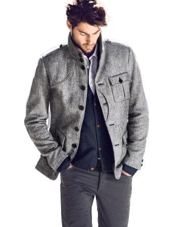 Jacheta barbateasca din tweed – din catalogul H&M de toamna