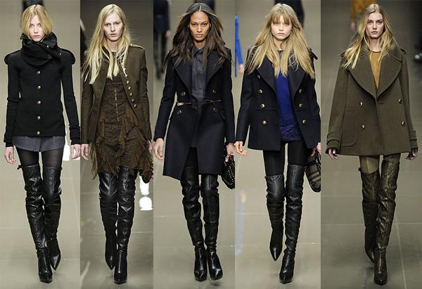Jachete femei toamna 2010 = croi angular + culori militare