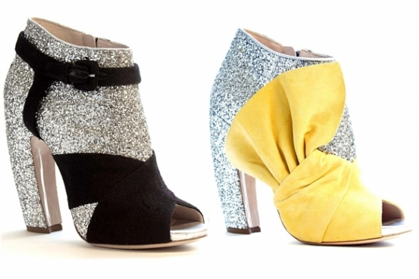 Botine open toe sau iarna cu copite glamorous