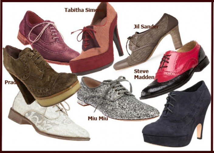 Pantofi oxford de dama 2011