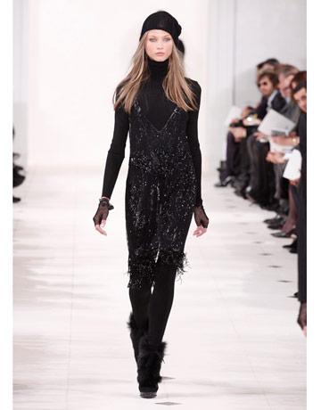 Outfitul all black, creatie Ralph Lauren