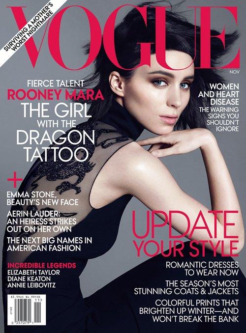Rooney Mara troneaza pe coperta Vogue