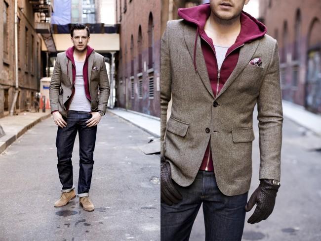Sacoul din tweed, moda in stil londonez